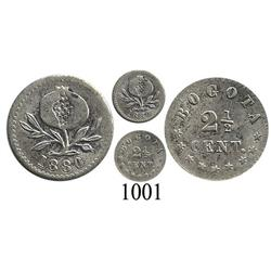 Bogotá, Colombia, 2½ centavos, 1880.
