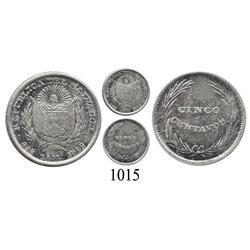 El Salvador, 5 centavos, 1892 C.A.M.