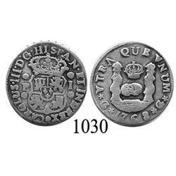 Guatemala City, Guatemala, pillar 1 real, Charles III, 1768P.