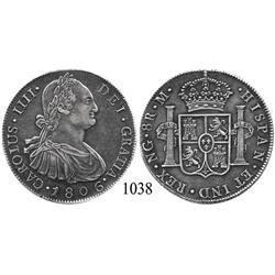 Guatemala City, Guatemala, bust 8 reales, Charles IV, 1806/5M.