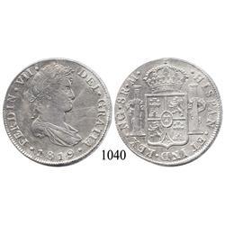 Guatemala City, Guatemala, bust 8 reales, Ferdinand VII, 1819M.