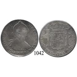 Guatemala City, Guatemala, bust 4 reales, Charles III, 1778P.