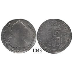 Guatemala City, Guatemala, bust 4 reales, Charles III, 1783P, very rare.