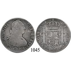 Guatemala City, Guatemala, bust 4 reales, Charles IV, 1794M.