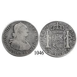 Guatemala City, Guatemala, bust 4 reales, Charles IV, 1795M.