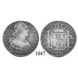 Guatemala City, Guatemala, bust 4 reales, Charles IV, 1800M.