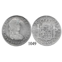 Guatemala City, Guatemala, bust 4 reales, Ferdinand VII, 1811M.