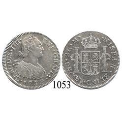 Guatemala City, Guatemala, bust 2 reales, Charles IV, 1799M.