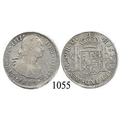 Guatemala City, Guatemala, bust 2 reales, Charles IV, 1805M.