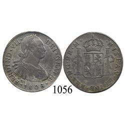 Guatemala City, Guatemala, bust 2 reales, Ferdinand VII transitional (bust of Charles IV), 1808M, sc