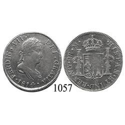 Guatemala City, Guatemala, bust 2 reales, Ferdinand VII, 1814M, scarce.