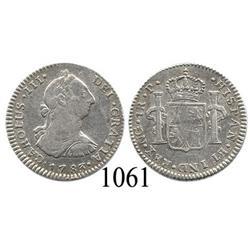 Guatemala City, Guatemala, bust 1 real, Charles III, 1783P.