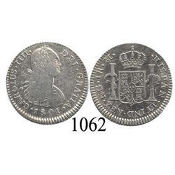 Guatemala City, Guatemala, bust 1 real, Charles IV, 1801M.