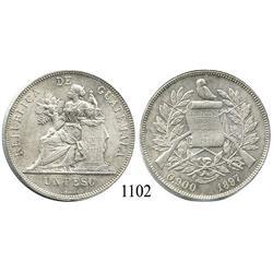 Guatemala City, Guatemala, peso, 1897.