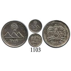 Guatemala, ¼ real, 1874P.