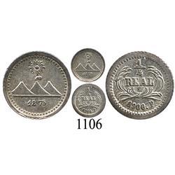 Guatemala, ¼ real, 1875/3P.