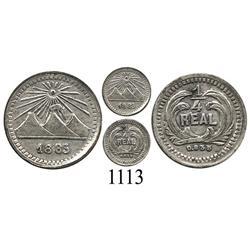 Guatemala, ¼ real, 1883, rare.