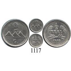 Guatemala, ¼ real, 1889G.