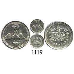 Guatemala, ¼ real, 1890.