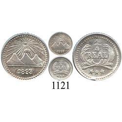 Guatemala, ¼ real, 1893/2.