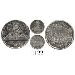 Guatemala, ¼ real, 1894H.