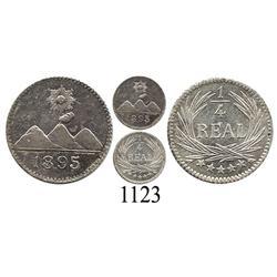 Guatemala, ¼ real, 1895.