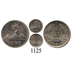 Guatemala, ¼ real, 1896.