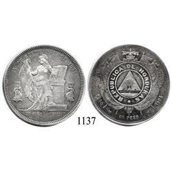 Honduras, peso, 1894/2 (open 4).