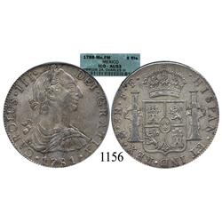 Mexico City, Mexico, bust 8 reales, Charles III, 1788FM, encapsulated ICG-AU53.