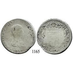 Durango, Mexico (War for Independence), bust 8 reales, Ferdinand VII, 1817MZ.