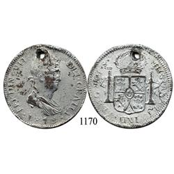 Guadalajara, Mexico (War for Independence), bust 8 reales, Ferdinand VII, 1818FS, contemporary count