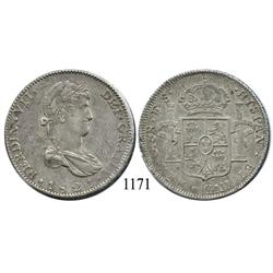 Guadalajara, Mexico (War for Independence), bust 8 reales, Ferdinand VII, 1821FS.