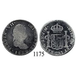 Guanajuato, Mexico (War for Independence), bust 2 reales, Ferdinand VII, 1822J/JM, scarce.