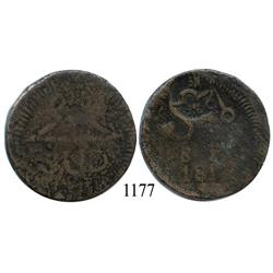 Oaxaca (SUD/Morelos), Mexico (War for Independence), copper 8 reales, 1812, with Morelos countermark