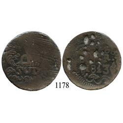 Oaxaca (SUD/Morelos), Mexico (War for Independence), copper 8 reales, 1813.