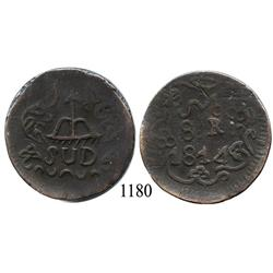 Oaxaca (SUD/Morelos), Mexico (War for Independence), copper 8 reales, 1814.