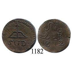Oaxaca (SUD/Morelos), Mexico (War for Independence), copper 2 reales, 1812.
