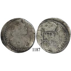 Zacatecas, Mexico (War for Independence), bust 8 reales, Ferdinand VII, 1811, scarce.