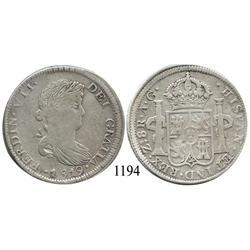 Zacatecas, Mexico (War for Independence), bust 8 reales, Ferdinand VII, 1819AG.