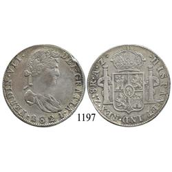 Zacatecas, Mexico (War for Independence), bust 8 reales, Ferdinand VII, 1821AZ, scarce.