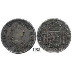 Zacatecas, Mexico (War for Independence), bust 8 reales, Ferdinand VII, 1821RG.