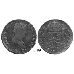 Zacatecas, Mexico (War for Independence), bust 8 reales, Ferdinand VII, 1822RG.