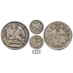 Mexico City, Mexico, 5 centavos, 1864M.
