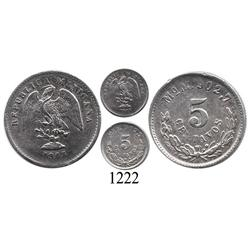 Mexico City, Mexico, 5 centavos, 1903.