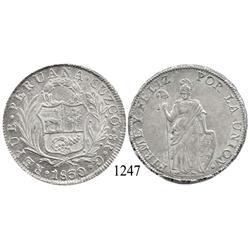 Cuzco, Peru, 8 reales, 1830G.