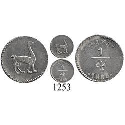 Lima, Peru, ¼ real, 1855/35.