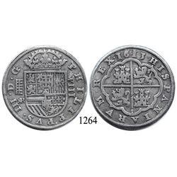 Segovia, Spain, milled 8 reales, Philip III, 1613AR.