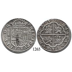 Segovia, Spain, milled 8 reales, Philip IV, 1630P.