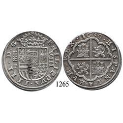 Segovia, Spain, milled 8 reales, Philip IV, 1630P.