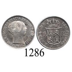 Madrid, Spain, 1 real, Isabel II, 1852.